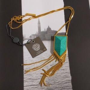 Vince Camuto Semi Precious Fringe Neck Necklace